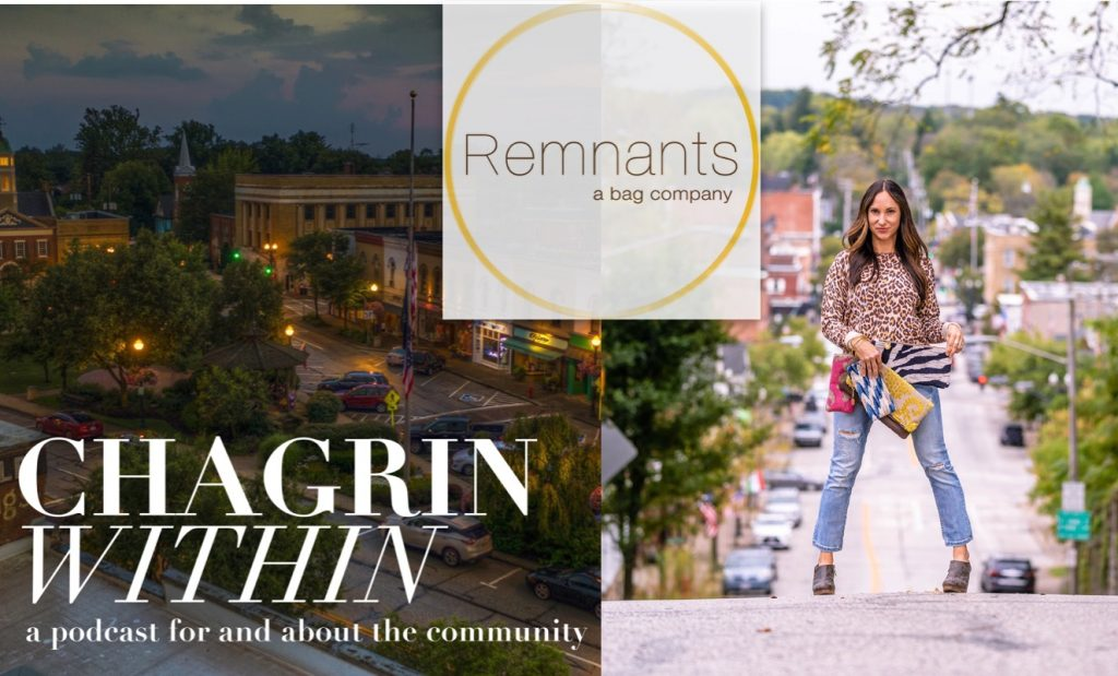Virginia Gonzales From Remnants Bag Company on Chagrin Within Podcast - A podcast for an about the Chagrin Falls, Ohio Community
